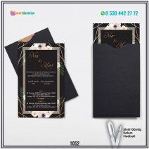 Kapalı Siyah Zarflı Model – 1052