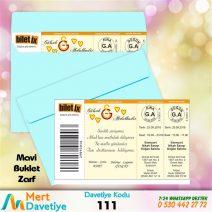 1,000 ADET MAVİ ZARFLI MODEL-111
