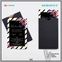 Kapalı Siyah Zarflı Model – 1111