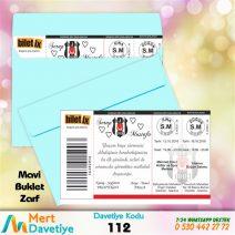 1,000 ADET MAVİ ZARFLI MODEL-112