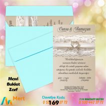 1,000 ADET MAVİ ZARFLI MODEL-169