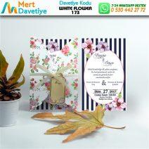 1,000 ADET WHİTE FLOWER MODEL-173