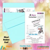 1,000 ADET MAVİ ZARFLI MODEL-181