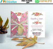 1,000 ADET PINK FLOWER MODEL-209