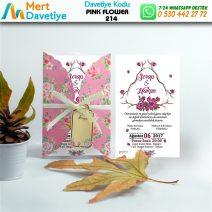 1,000 ADET PINK FLOWER MODEL-214