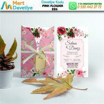 1,000 ADET PINK FLOWER MODEL-226