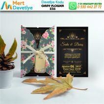 1,000 ADET GRAY FLOWER MODEL-236