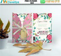 1,000 ADET PINK FLOWER MODEL-264