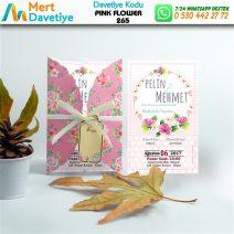 1,000 ADET PINK FLOWER MODEL-265