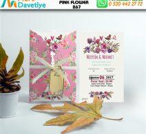 1,000 ADET PINK FLOWER MODEL-267