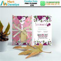 1,000 ADET PINK FLOWER MODEL-270