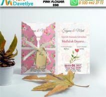1,000 ADET PINK FLOWER MODEL-288