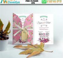 1,000 ADET PINK FLOWER MODEL-295