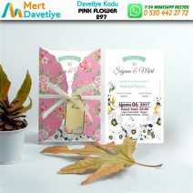 1,000 ADET PINK FLOWER MODEL-297