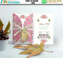 1,000 ADET PINK FLOWER MODEL-302