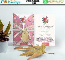 1,000 ADET PINK FLOWER MODEL-305