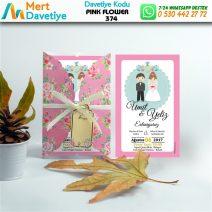 1,000 ADET PINK FLOWER MODEL-374