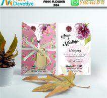 1,000 ADET PINK FLOWER MODEL-384