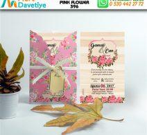 1,000 ADET PINK FLOWER MODEL-396