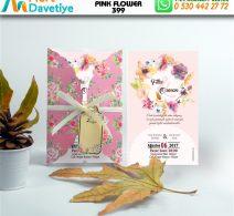 1,000 ADET PINK FLOWER MODEL-399