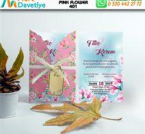 1,000 ADET PINK FLOWER MODEL-401