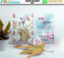 1,000 ADET WHİTE FLOWER MODEL-401
