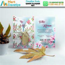 1,000 ADET WHİTE FLOWER MODEL-401
