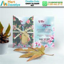 1,000 ADET GRAY FLOWER MODEL-401
