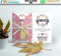 1,000 ADET PINK FLOWER MODEL-406