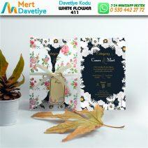 1,000 ADET WHİTE FLOWER MODEL-411
