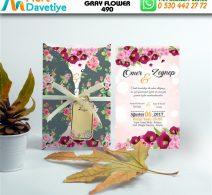 1,000 ADET GRAY FLOWER MODEL-490