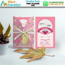 1,000 ADET PINK FLOWER MODEL-493