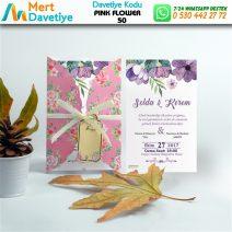 1,000 ADET PINK FLOWER MODEL-50