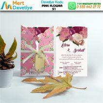 1,000 ADET PINK FLOWER MODEL-51