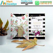 1,000 ADET WHİTE FLOWER MODEL-521