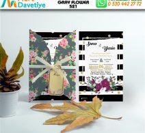 1,000 ADET GRAY FLOWER MODEL-521
