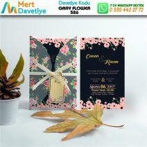 1,000 ADET GRAY FLOWER MODEL-526