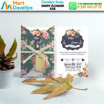 1,000 ADET GRAY FLOWER MODEL-532