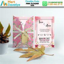 1,000 ADET PINK FLOWER MODEL-536