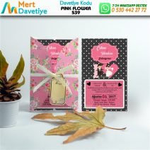 1,000 ADET PINK FLOWER MODEL-539