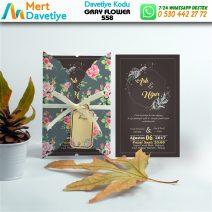 1,000 ADET GRAY FLOWER MODEL-558