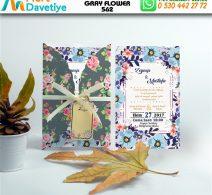 1,000 ADET GRAY FLOWER MODEL-562