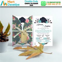 1,000 ADET GRAY FLOWER MODEL-566