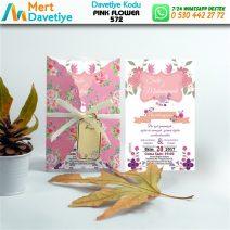 1,000 ADET PINK FLOWER MODEL-572