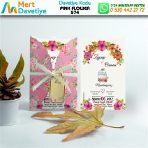 1,000 ADET PINK FLOWER MODEL-574