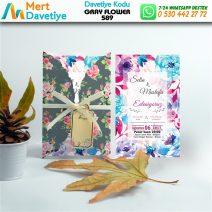 1,000 ADET GRAY FLOWER MODEL-589