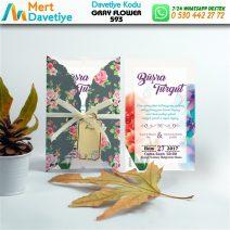 1,000 ADET GRAY FLOWER MODEL-593