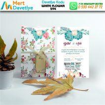 1,000 ADET WHİTE FLOWER MODEL-594