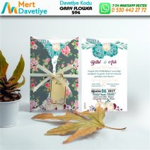 1,000 ADET GRAY FLOWER MODEL-594