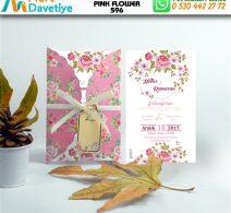 1,000 ADET PINK FLOWER MODEL-596